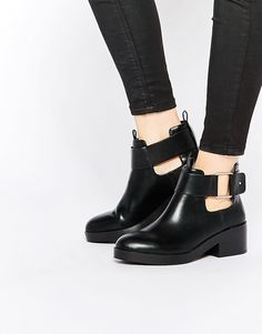Image 1 ofPull&Bear Buckle Ankle Boot