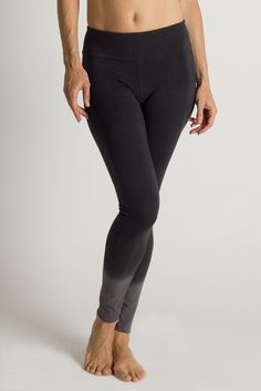 Organic Cotton Basic Yoga Legging with Dip Dye | LVR  | Made in Los Angeles | Available at beadandreel.com