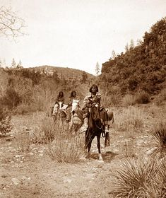 Apache Women on Horses