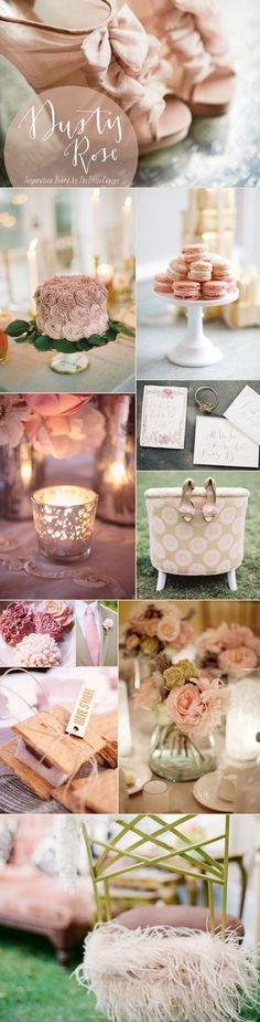 This week's inspiration board is a soothing and romantic dusty rose color theme! Such a beautiful color that can be used in so many ways to create a relaxed and sweet atmosphere. Enjoy!