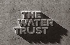 Brand New: New Logo for The Water Trust by Prophet