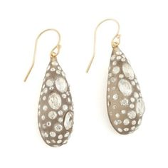 Lucite and Crystal Drop Earrings by Alexis Bittar