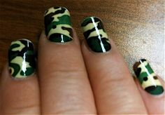 Camo nails! I love these!