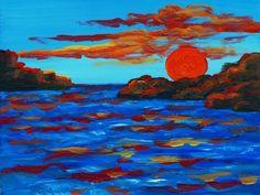 Sunset (1888) — Vincent van Gogh