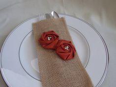 Thanksgiving Table Decor Burnt Orange Flowers by bellerosedesigns