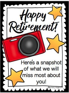 A gift from the class for a retiring teacher, principal, nurse, custodian or librarian! There are 3 different options included. 3 different color cover page option include: Principal Retirement, Teacher Retirement Gifts, Retirement Celebration, Happy Retirement, Retirement Cards, Retirement Parties, Retirement Ideas, Appreciation Message, Gifts