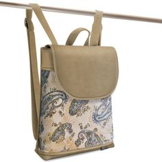 Jarry One Odisha-E beige Leather Backpack, Backpacks, Beige, Fashion, Moda, Leather Backpacks, Fashion Styles, Backpack, Fashion Illustrations