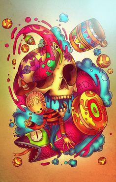 Ilustraciones de Raúl Urias    Raúl Urias es un diseñador de 22 años que vive en México. Trabajo en el mundo de la ilustración para diferentes clientes y empresas de todo el mundo, la mayor parte de su trabajo es en la ilustración freelance.