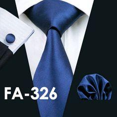 Men`s Tie 20 Styles Novelty Silk Jacquard Woven Gravata Necktie Handky Cufflinks Set