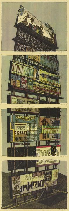 "A set of screen prints ""Pre-Order Incentive"" mini-prints designed and illustrated by Dan Black of Landland"