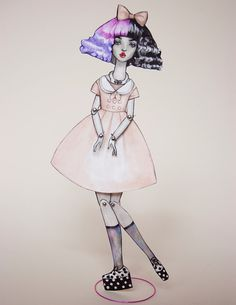 Hey, I found this really awesome Etsy listing at https://www.etsy.com/listing/180211214/pidgin-paper-doll-melanie-martinez