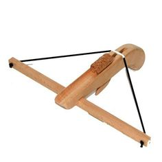 Wooden Cork Crossbow is a toy catapult that will send corks flying with great precision, across a room or a field. Made in Germany of sold beechwood. Ready to take your child on fun adventures!