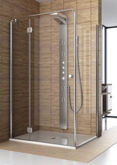 Aquaform Sol De Luxe drzwi prysznicowe otwierane 80 cm lewe chrom szkło przeźroczyste powłoka DP active 103-06050