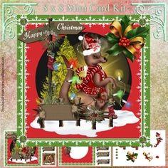 Kangaroo Christmas on Craftsuprint - View Now! Christmas Animals, Card Kit, Card Designs, Kangaroo, Decoupage, Card Making, Christmas Ornaments, Holiday Decor, Mini