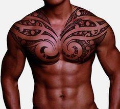 Samoan chest tattoo #samoantattoos #polynesiantattooschest #hawaiiantattoospolynesian #samoantattooschest