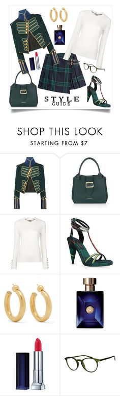 """""""PLAID STYLE"""" by qstyled ❤ liked on Polyvore featuring Burberry, Sophie Buhai, Versace and Italia Independent"""