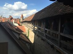 Walkway in the wall goes all around Rothenburg.
