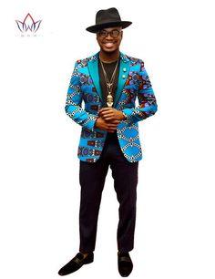 BRW African Jacket For Men African Long Sleeve Top Mens African Clothing Dashiki African Print Blazer Men Outfits Fit African Clothing For Men, African Men Fashion, Mens Fashion, African Shirts, African Wear, African Style, Ethnic Fashion, African Dress, African Dashiki