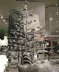 Silver Christmas Trees and christmas balls