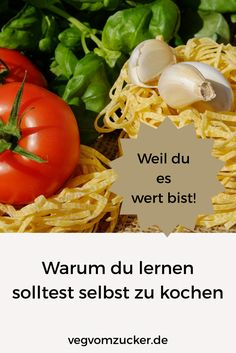 Warum du lernen solltest selbst zu kochen! Vegetables, Food, No Sugar Diet, Good Ideas, Studying, Cooking, Essen, Vegetable Recipes, Meals