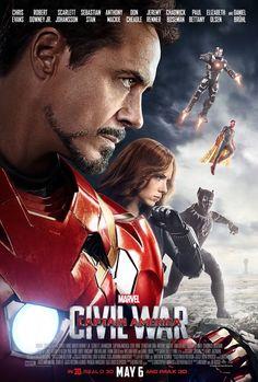 Captain America Civil War: Robert Downey Jr (Tony Stark/Iron Man), Scarlet Johansson (Natasha Romanoff/Black Widow), Chadwick Boseman (T'Challa/Black Panther), Don Cheadle (James Rhodes/War Machine, Paul Bettany (Vision)