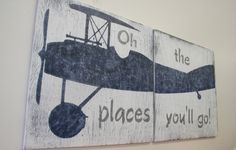 Oh The Places You'll Go Wood Sign Boys Nursery by RusticlyInspired