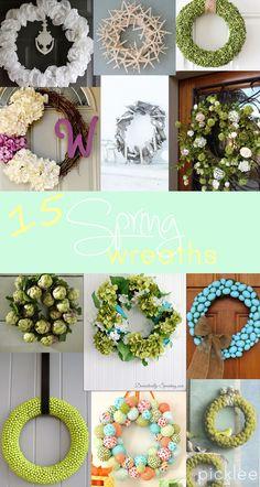 15 DIY Spring Wreaths!