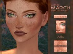 Sims 4 CC's - The Best: March - Face Freckles HQ by Alfsi