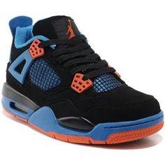 Nike Air Jordan 4 Black Blue Orange Cheap Jordan 11 c402666216