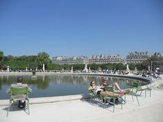 Sun bathing Parisians in Paris, Italy