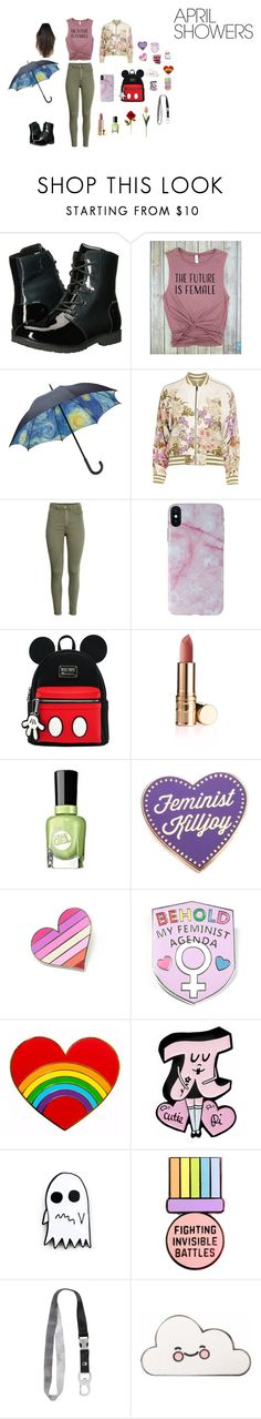 """""""Rain Jumper"""" by nerdycupcake2004 on Polyvore featuring The North Face, H&M, Candywirez, Sally Hansen, BKE and rainydayoutfit"""