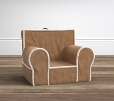 TOWNES Natural Suede with Sherpa Trim Anywhere Chair® | Pottery Barn Kids