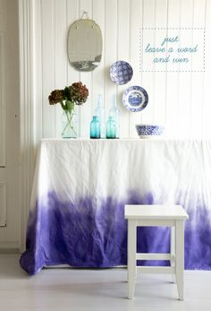 Gorgeous ombre tablecloth -so easy to DIY!