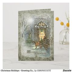 Shop Christmas Holidays - Greeting Card created by GRAPHICSITE. Christmas Holidays, Christmas Cards, Christmas Stuff, Holiday Greeting Cards, Vintage Holiday, Cool Diy, Unique Gifts, Prints, Design