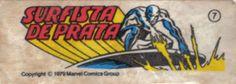 Surfista Prateado - Figurinhas da Marvel no chiclete - Anos 80