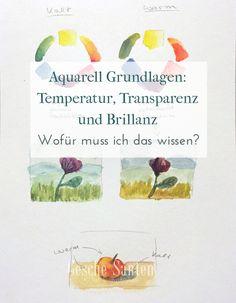 Aquarell Grundlagen: Temperatur, Transparenz und Brillanz | Gesche Santen Blog
