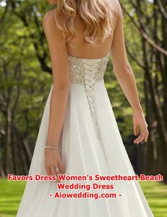 1e4236fc16a8 Wedding Dress - Favors Dress Women's Sweetheart Beach Wedding Dress Chiffon,  Bridal Dresses, Quinceanera