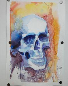 #artwork #artist #watercolor #watercolour #skull #skulltattoo #watercolorskull #tattooartist #painting #mishartattoo #mishar #duesseldorf #düsseldorf