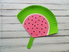 Paper Plate Watermelon Fan #BabyCenterBlog