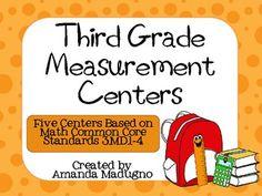 Third Grade Measurement Centers - 3.MD.1-4 $