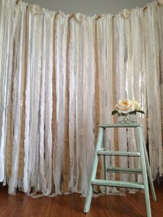 This listing is for a 6 ft long Burlap, Lace, and Cotton Garland. Perfect for any Rustic, Vintage, or Shabby themed wedding , baby shower,