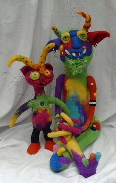 Mosey 'n Me - Needle Felting funky fun & friendly monsters