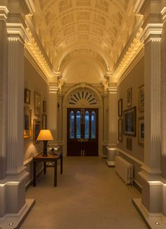 See how to create an immediate impact with entrance lighting by John Cullen Lighting including light fittings and design advise. Corridor Lighting, Entrance Lighting, Interior Lighting, Lighting Design, Extension Plans, Baroque Design, Restaurant Lighting, Light Architecture, Luxury Interior Design