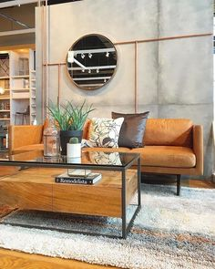 Box Frame Storage Coffee Table Open shelves Storage and Drawers