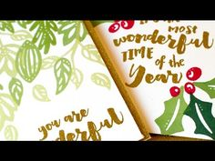 Stretching Holiday Stamps & Dies (DIY Stamps) - YouTube. Create your own DIY stamps with dies.