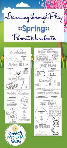 Learning Through Play Handouts for a Year