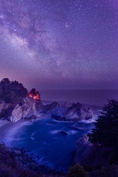 McWay Falls under galaxy, California, by Murali Achanta on 500px.