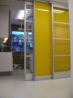 DIRTT Environmental Solutions - Product Applications: This sliding wall application might come in handy to expand 2 conference rooms into one big one if they need...