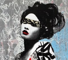 Geishas Graffiti by HUSH