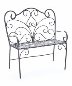 Loving this Heart Back Bench Mini Pot Stand on #zulily! #zulilyfinds